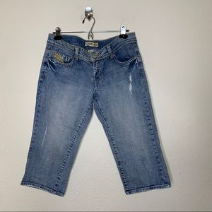 Tyte Distressed Light Wash Crop Jeans